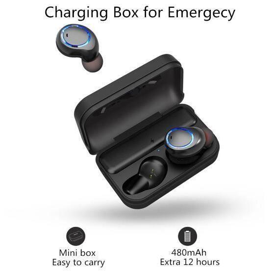 Awei T3 Tws Binaural Bluetooth Écouteurs Antibruit Étanche Sans Fil In-ear Stéréo Avec Micro Et Charging Dock