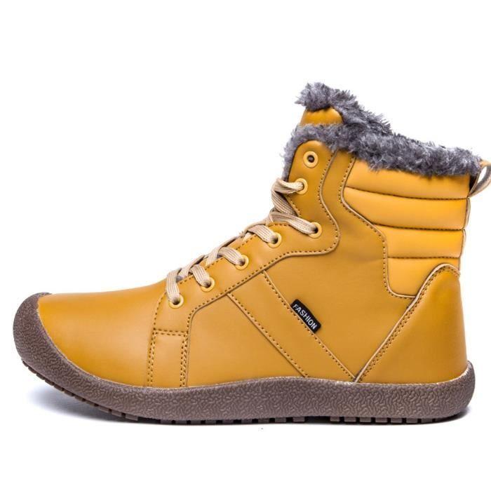 sport neige ZMKJN avec doublure fourrure cheville lacées Bottes Mens 2 montantes de Taille 1 d'hiver Chaussures de 40 Chaussures en FZqq0Ew