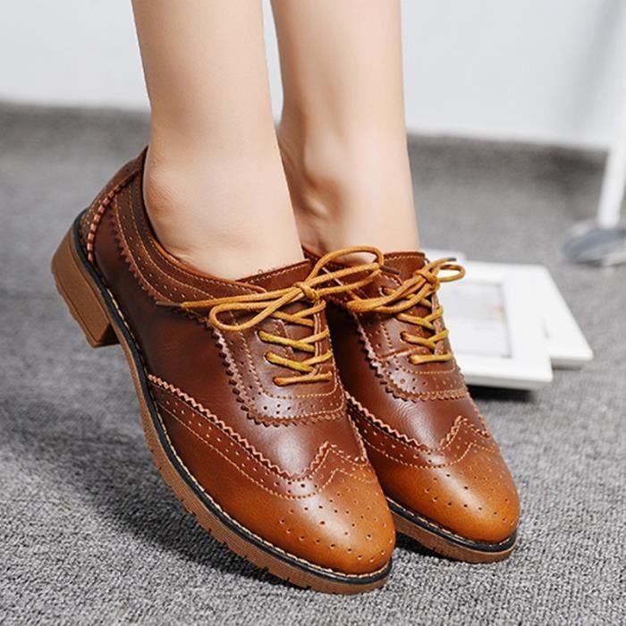 chaussures multisport Mixte pour dames Vintage Voir mince en cuir véritable Casual noir taille38