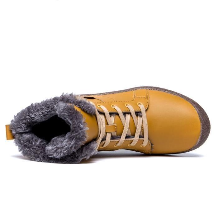 avec d'hiver doublure fourrure Mens montantes neige 40 lacées de en de cheville Taille 2 Chaussures ZMKJN 1 Bottes Chaussures sport ffqvSP