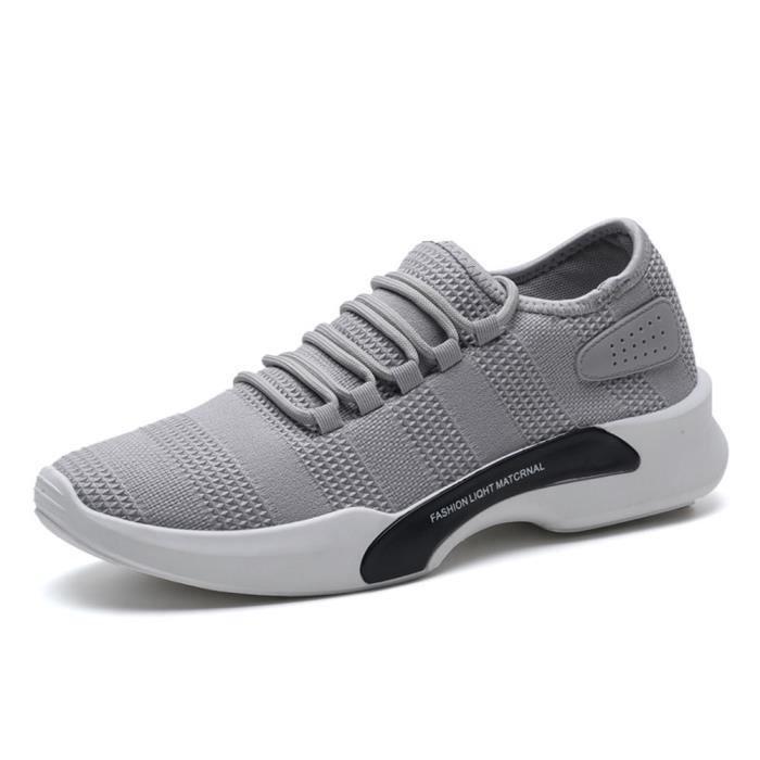LLT 41 Chaussure Homme Basket XZ011Gris Occasionnelles Ultra Comfortable xzPXzwI0q