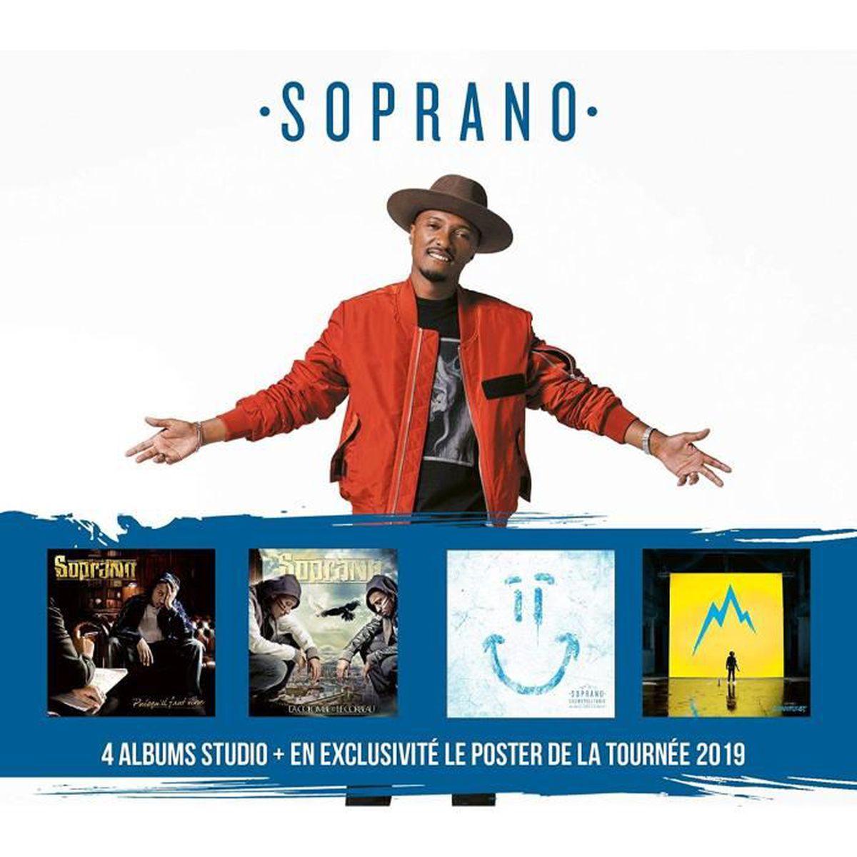 CD VARIÉTÉ FRANÇAISE Soprano - Coffret 4 albums + poster - 6CD - 90 Tit