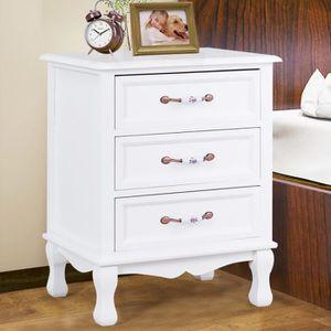 table de chevet 3 tiroirs achat vente table de chevet 3 tiroirs pas cher cdiscount. Black Bedroom Furniture Sets. Home Design Ideas