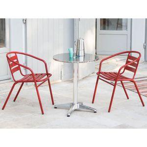 salon de jardin bistrot achat vente salon de jardin bistrot pas cher soldes d s le 10. Black Bedroom Furniture Sets. Home Design Ideas