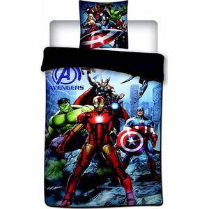 HOUSSE DE COUETTE SEULE Avengers Housse de Couette Garcon avec Taie d'Orei