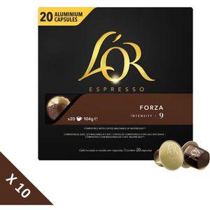 CAFÉ - CHICORÉE Café L'OR Espresso Forza (intensité 9) 20 capsules