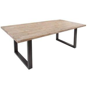 TABLE À MANGER SEULE Casa Padrino teck gris bois massif table à manger