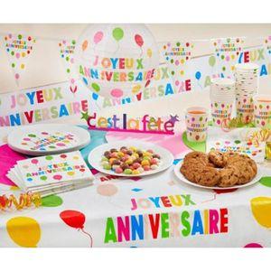 766955dc9c0c NAPPE DE TABLE Nappe plastique joyeux anniversaire 130 x 180 cm M
