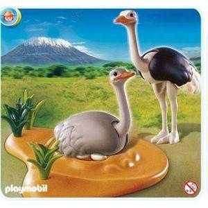 UNIVERS MINIATURE Playmobil - Figurine - Couple d'autruches et Nid