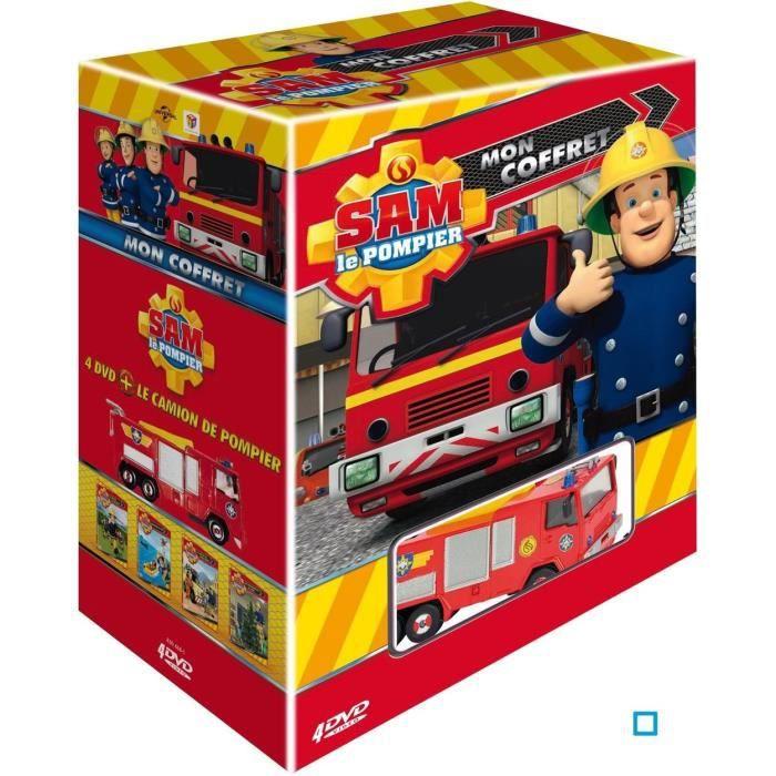 Sam le pompier 4 dvd et son camion dvd en dvd dessin anim pas cher cdiscount - Camion pompier sam ...