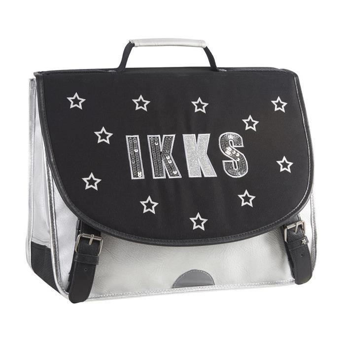 IKKS Cartable - 2 Compartiments - Primaire - 38 cm - Black - Enfant fille