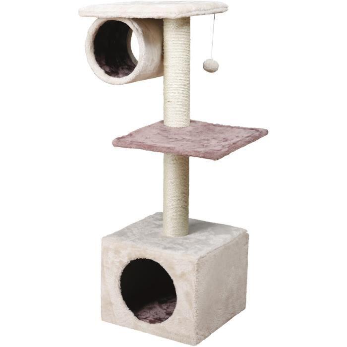 TRIXIE Arbre à chat Sina 106cm - Crème et cappuccino - Pour chat