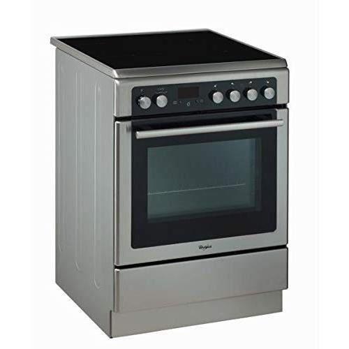 WHIRLPOOL AXMT 6534-IX - Cuisinière vitrocéramique - Four électrique - 4 Fonctions automatiques - 57 L - A - L 60 cm - Gris