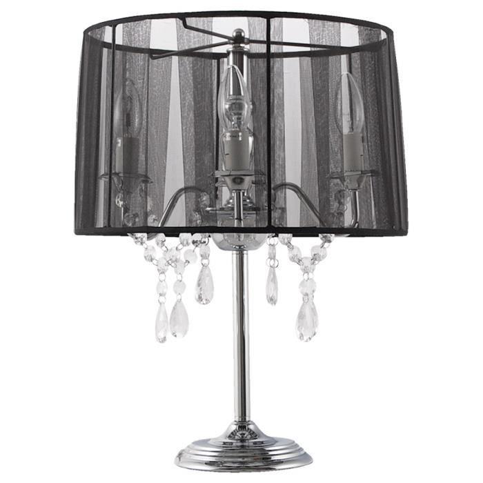 Baro 'klassik' Lampe De Chevet Noire Chandelier lFK1TJc