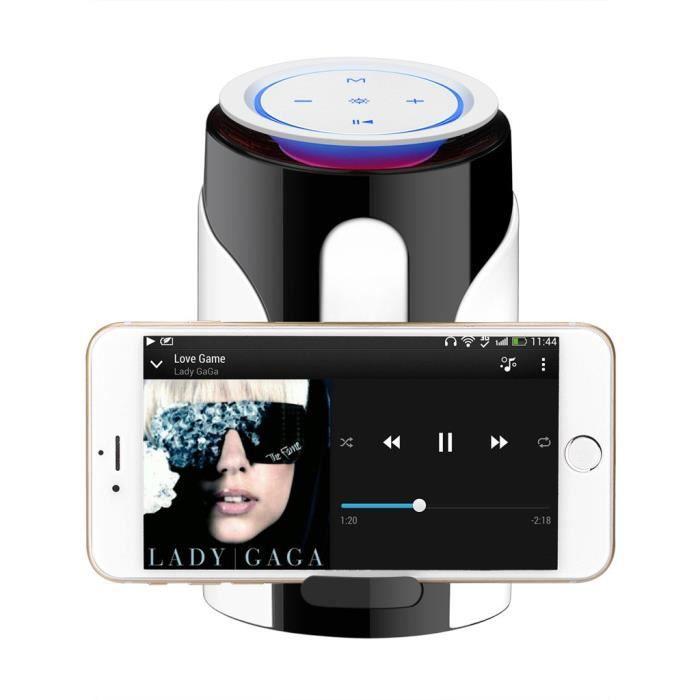 Led Bluetooth Haut-parleur Sans Fil Portable Lumière Caisson De Graves Petit Maintien_co3948