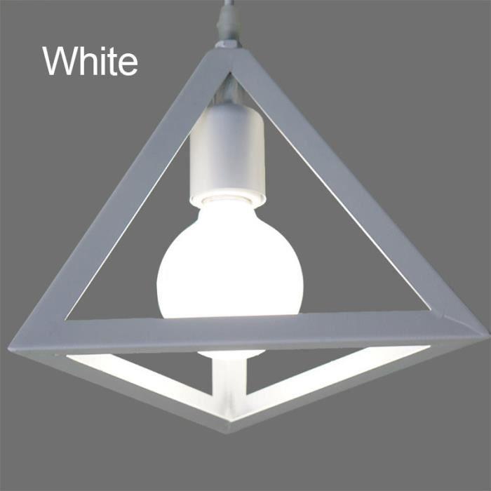Parfait Lustre Industriel Lustre Design Créatif Luminaire Encastré Décoratif 1 Lampe  Blanc