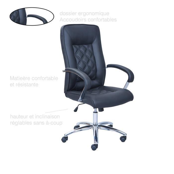 Fauteuil Bureau Chaise Confort De Roulette Inclinable Confortable