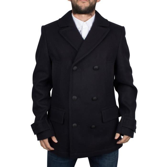 prix le plus bas fde76 131d5 Tommy Hilfiger Homme Logo classique Caban, Bleu Bleu - Achat ...