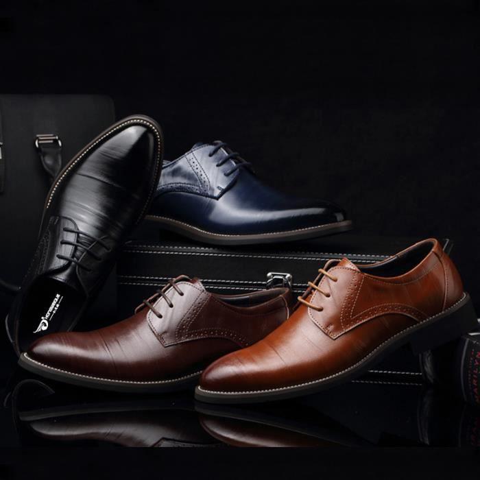 Hommes Chaussures Chaussures formelles Mocassins Oxford England Chaussures en cuir Plus la taille 37-48
