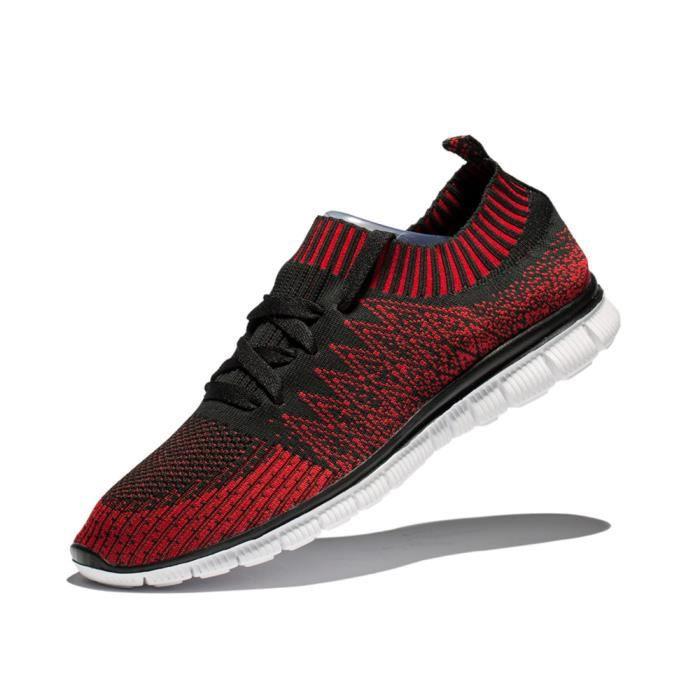 Chaussures de course Hommes Respirant Haut qualité Chaussures de filet homme Beau Marque Basket Mode Plus De Couleur 40-47,rouge,47