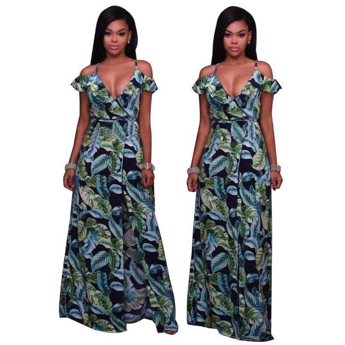 CUSSELEN Femme Robes irrégulier 3D Impression Vetement Collier V Loisirs Slim Vetements Taille S-XLAdulte