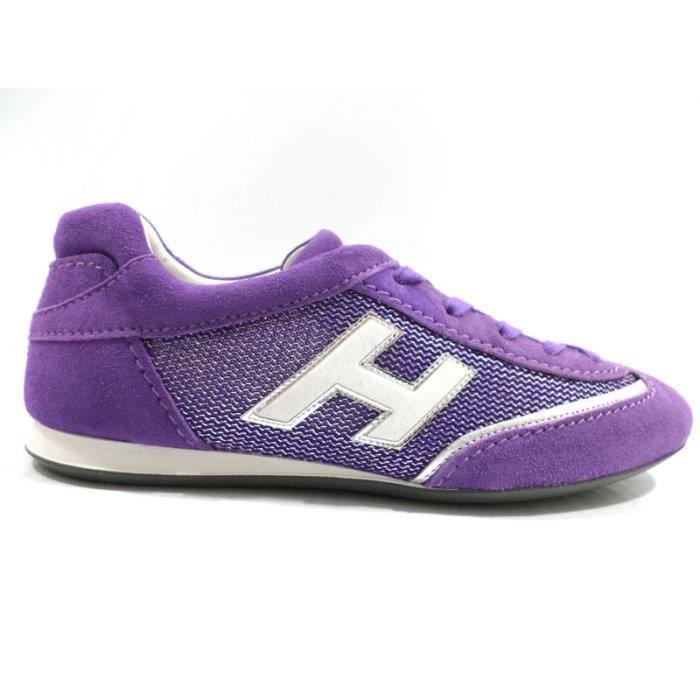 plus récent 46c75 309fe HOGAN Chaussures Femme Baskets Daim Violet wh49 Violet ...