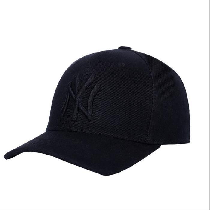 2c076522bc8c Baseball casquette Homme réglable - Noir - Achat   Vente casquette ...