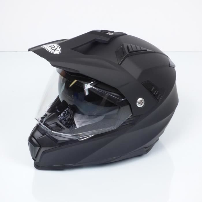 Casque Cross Enduro Trail Quad Moto Taille S Torx Dundee Black Mat