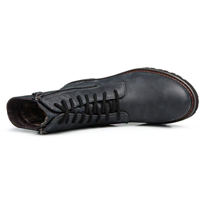 Martin Bottes Mode Hommes Femmes Sport Tenir Chaussures chaudes Ajouter la fourrure cuir supérieur