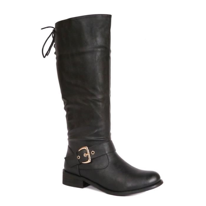 Bliss Tall Knee High Fashion Boots With Zipper CAJUX Taille-37 1-2