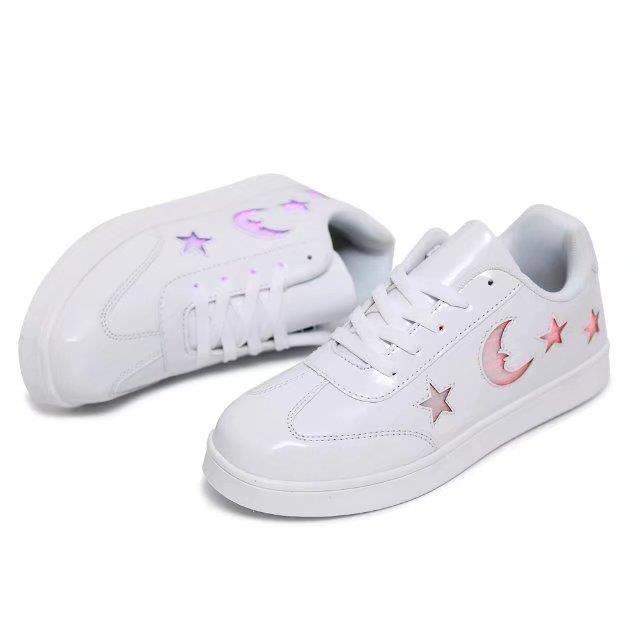 fibre optique LED allumer chaussures pour enfants chaussures lumineuses en chargeant des chaussures de sport sportives