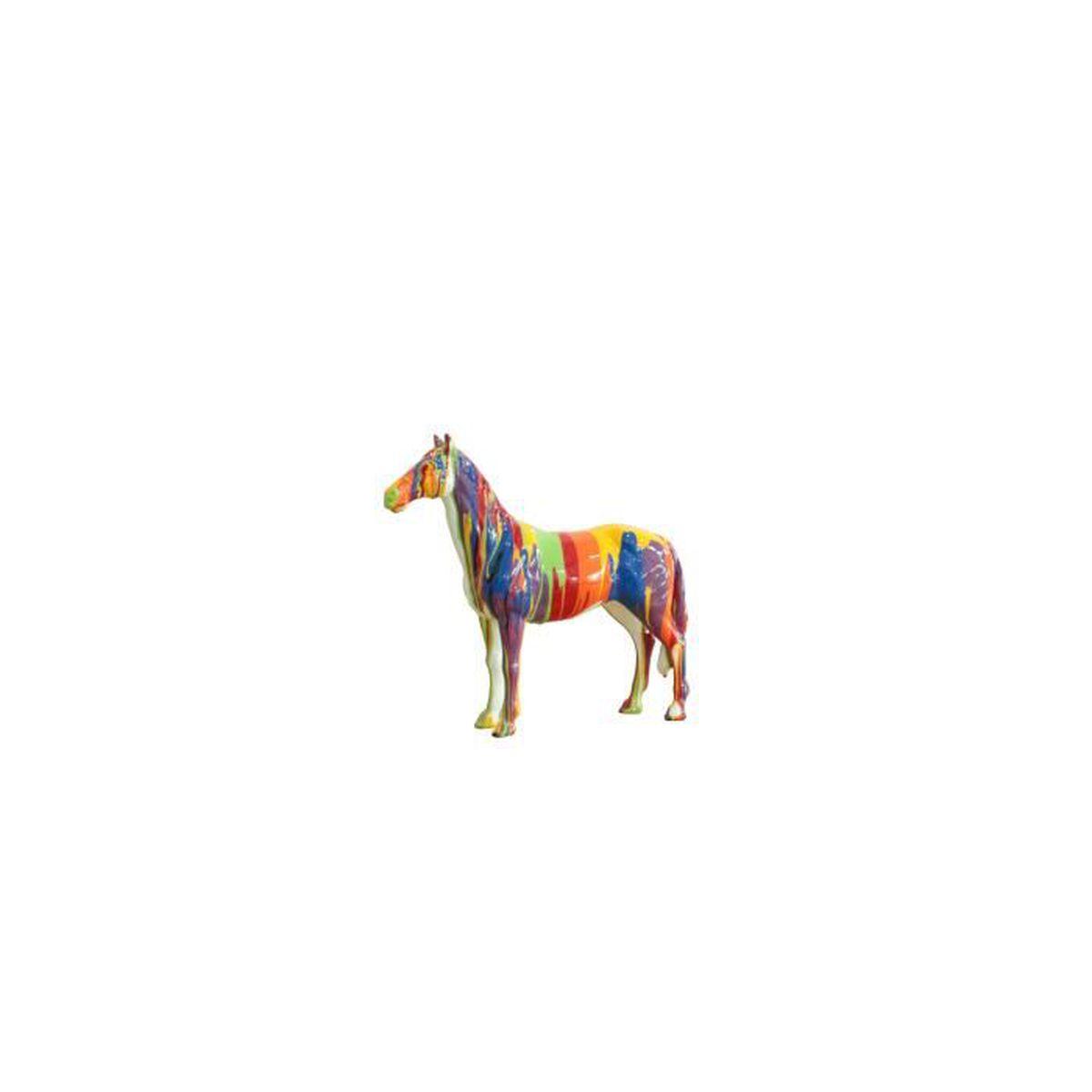 Statue cheval en couleur - design moderne - objet déco - Achat ...