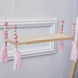 ETAGÈRE MURALE mosakog® Perles en bois Mur étagère de salle de br