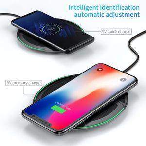CHARGEUR TÉLÉPHONE Chargeur sans fil Qi pliable 10 W pour iPhone X 8