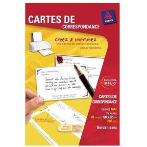Avery 48 Cartes De Correspondance