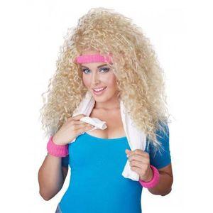 CHAPEAU - PERRUQUE Perruque femme blonde années 80 avec bandeau