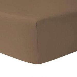 DRAP HOUSSE Drap Housse 180 x 200 - TAUPE FONCE 100% coton 57