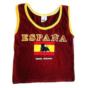Basket Espagne T 4 Taureau Enfant Ans Débardeur Drapeau Marcel Shirt 7gvYbyf6