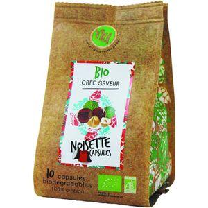 CAFÉ NU Café Bio Saveur Noisette Sachet de 10 Capsules