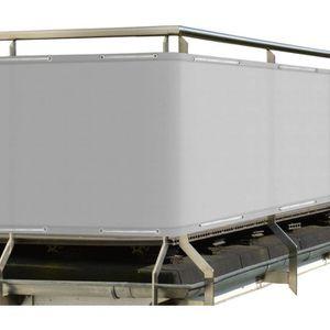 CLÔTURE - GRILLAGE Sol Royal Brise vue pour balcon 500x90cm Gris SolV