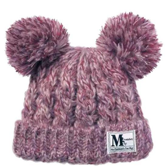 8540155ee8e MiVogue Bonnet Pour Bébé Hiver Cache Oreille Petit Enfant Garçon Fille  Crochet En Laine Tricoté Chaud-058-Violet Violet Violet - Achat   Vente  bonnet ...