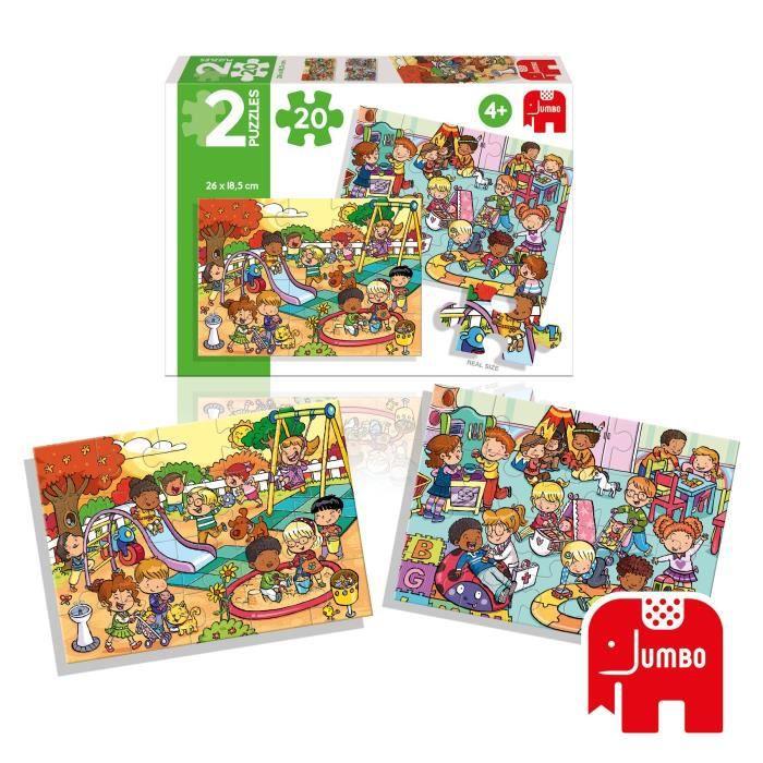 DISET Puzzles 2 X 20 pièces Parc et Aire de jeux