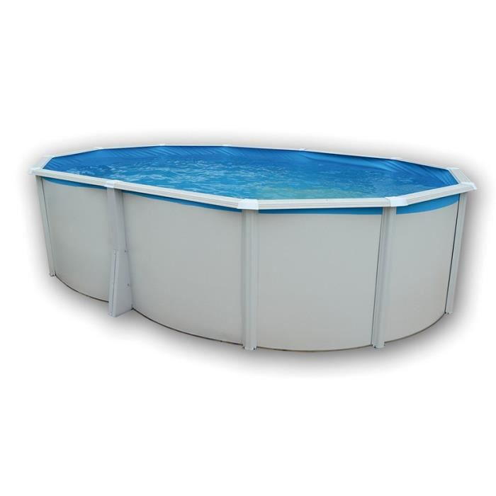 TOI Piscine ovale Ibiza en acier - 21500 L - 550 x 366 x 132 cm - Avec système de filtration