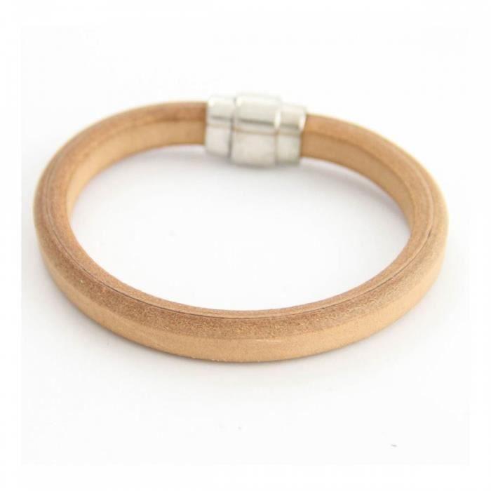 Beau Bracelet Homme Cuir Marron M H 959 - Achat   Vente bracelet ... bd5fe3bba467