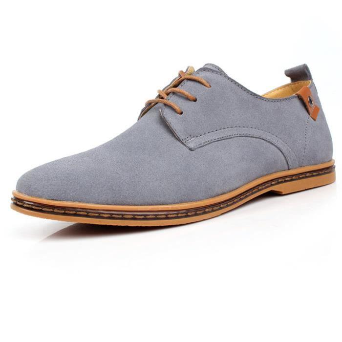 Chaussures de ville homme cuir Suede DERBY Noir nAGNzW57ol