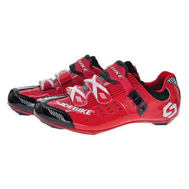 Baskets de cyclisme avec paire de cales et pédales - Rouge bfekxan4
