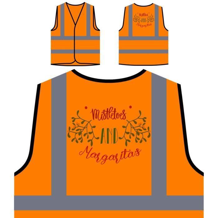 Haute De mistletoe Personnalisée And Protection Margaritas Hau Orange Visibilité À Veste xXaBwqHq