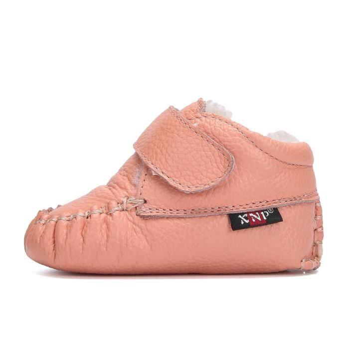Bottes bébé PU Cuir De Neige Hiver Garçons Filles Casual Mode Enfants Chaussures HZ-XZ157Rose20 Sm3b4gMCKs
