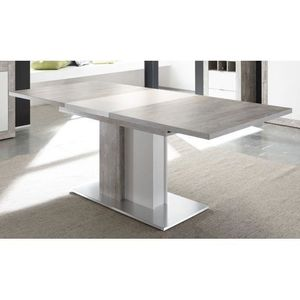 Table a manger beton achat vente table a manger beton pas cher cdiscount - Table a manger effet beton ...