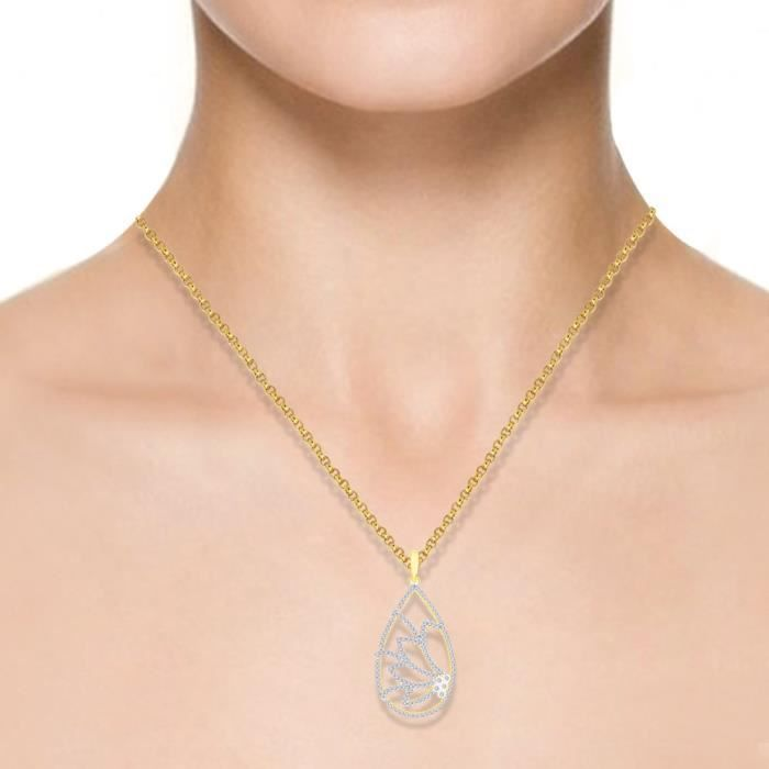 Cadeaux Diwali femmes Breena 18 carats dor Pendentif plaqué A7IP9